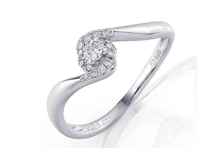 Zásnubní prsten s diamantem Briline, bílé zlato brilianty 3860853-0-55-99