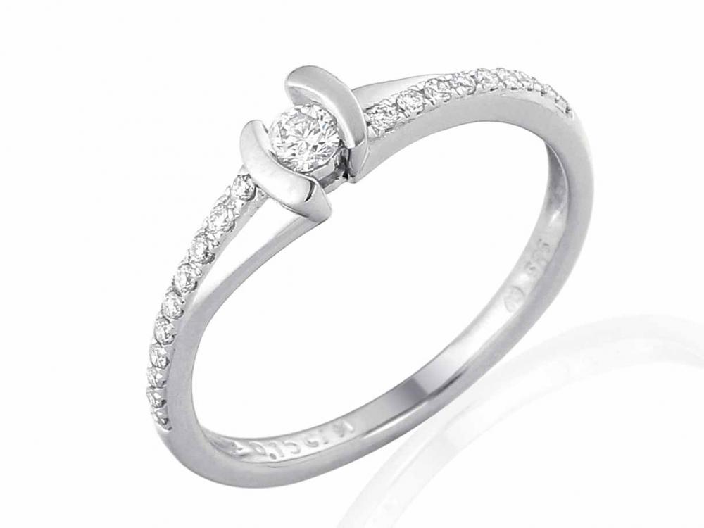 Zasnubni Prsten S Diamantem Briline Bile Zlato Brilianty 3860840 0