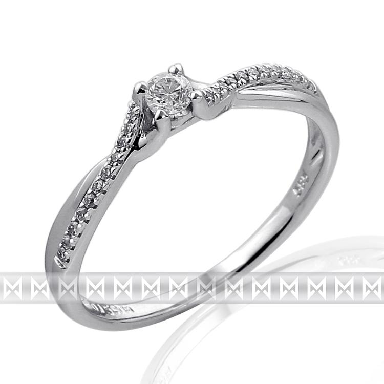 Zasnubni Prsten S Diamantem Briline Bile Zlato Brilianty 3861849 0