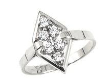 Prsten s brilianty 39307