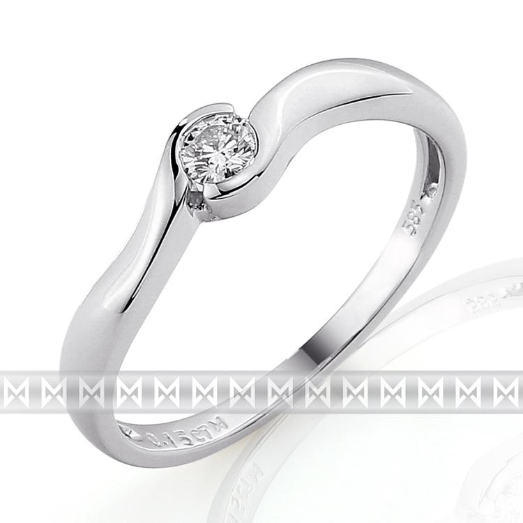 Zasnubni Prsten S Diamantem Briline Bile Zlato Brilianty 3860067 0