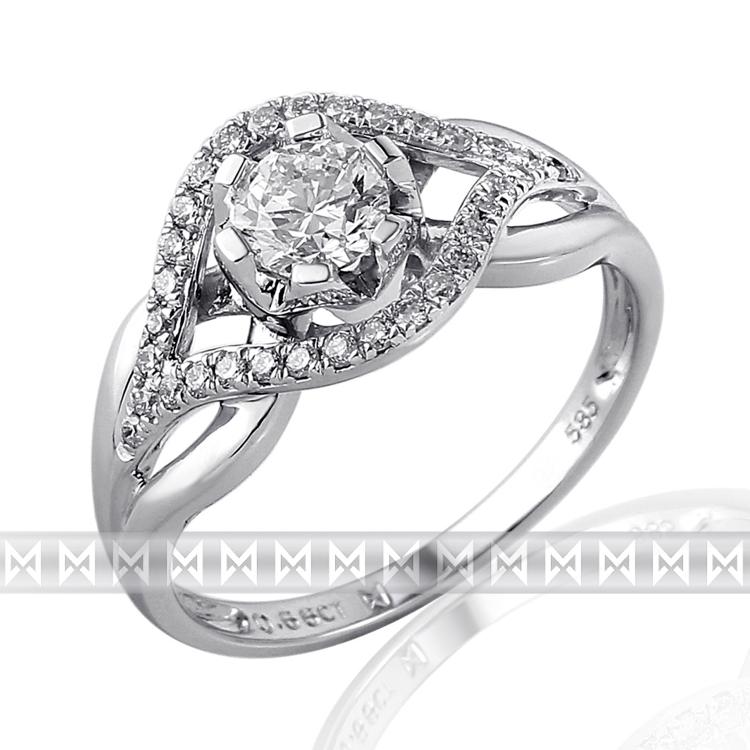 Zasnubni Prsten S Diamantem Briline Bile Zlato Brilianty 3860651 0
