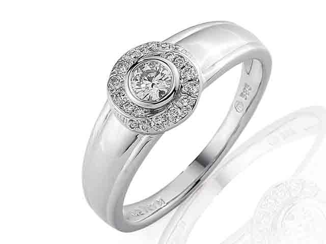 Prsteny Zasnubni Prsten S Diamantem Briline Bile Zlato Brilianty