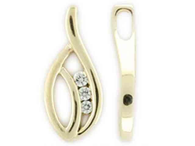 Přívěsek s diamantem, žluté zlato brilianty 3820192-1-0-99