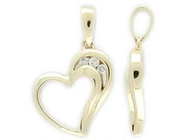 Přívěsek s diamantem, žluté zlato brilianty 3820086-0-0-99