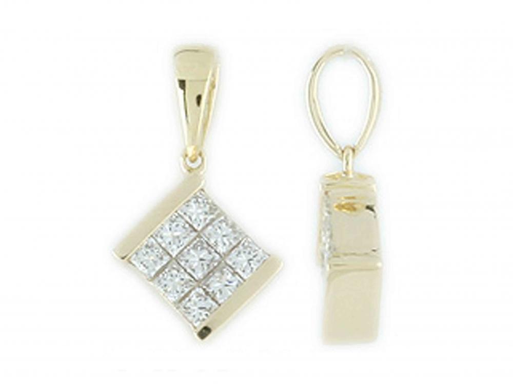 Přívěsek s diamantem, žluté zlato brilianty 3820045-0-0-99
