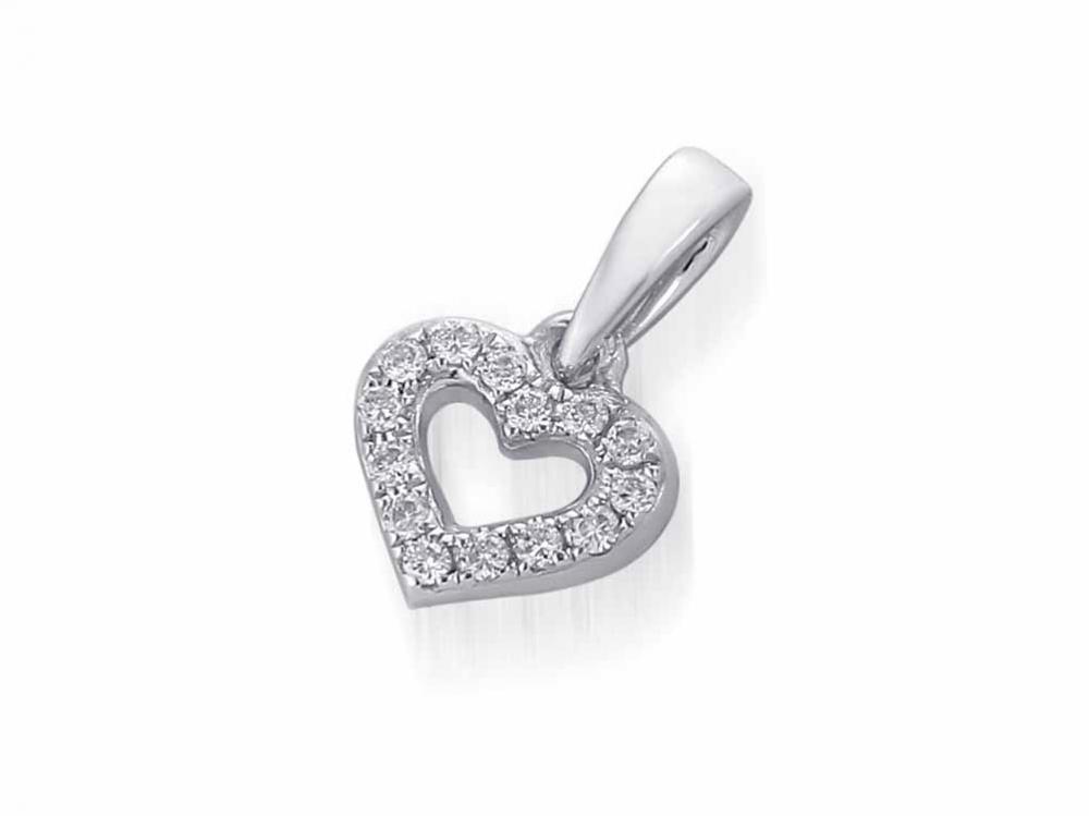 Přívěsek s diamantem, bílé zlato brilianty 3870622-0-0-99
