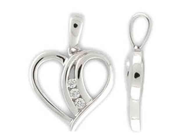 Přívěsek s diamantem, bílé zlato brilianty 3870083-0-0-99