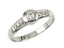 Zlatý prsten s brilianty 20307