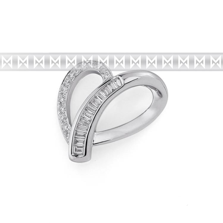 Přívěsek s diamantem, bílé zlato brilianty 3870081-0-0-99
