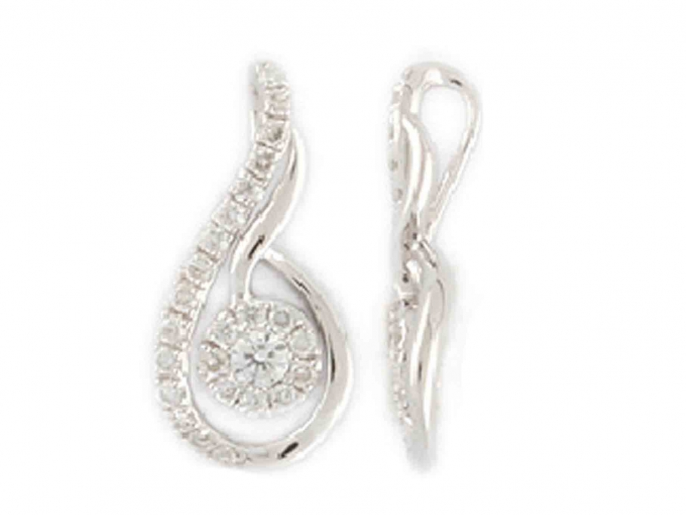 Přívěsek s diamantem, bílé zlato brilianty 3870360-0-0-99