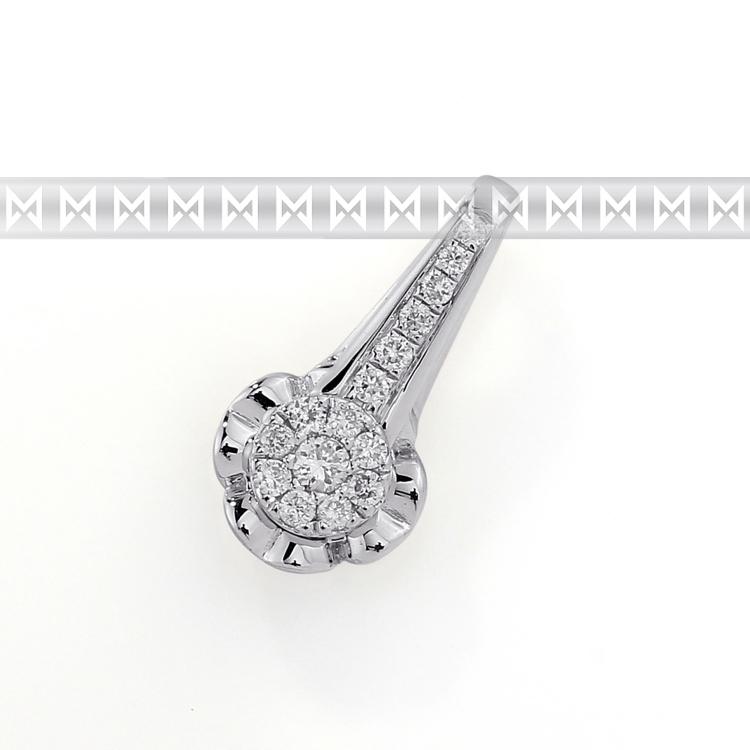 Přívěsek s diamantem, bílé zlato brilianty 3870589-0-0-99