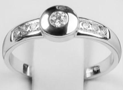 Zlatý prsten s brilianty Briline 20307