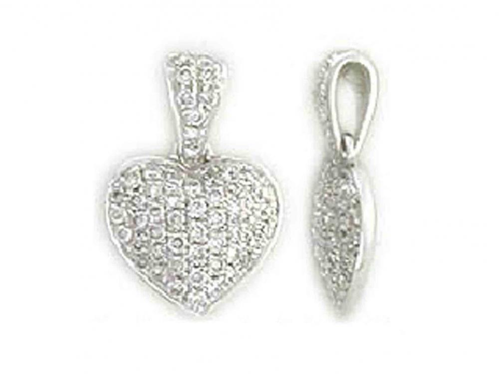 Přívěsek s diamantem, bílé zlato brilianty 3870092-0-0-99