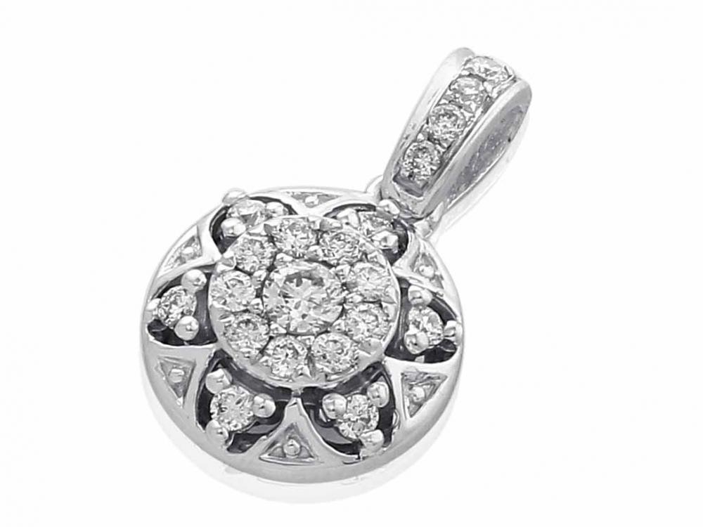 Přívěsek s diamantem, bílé zlato brilianty 3870585-0-0-99