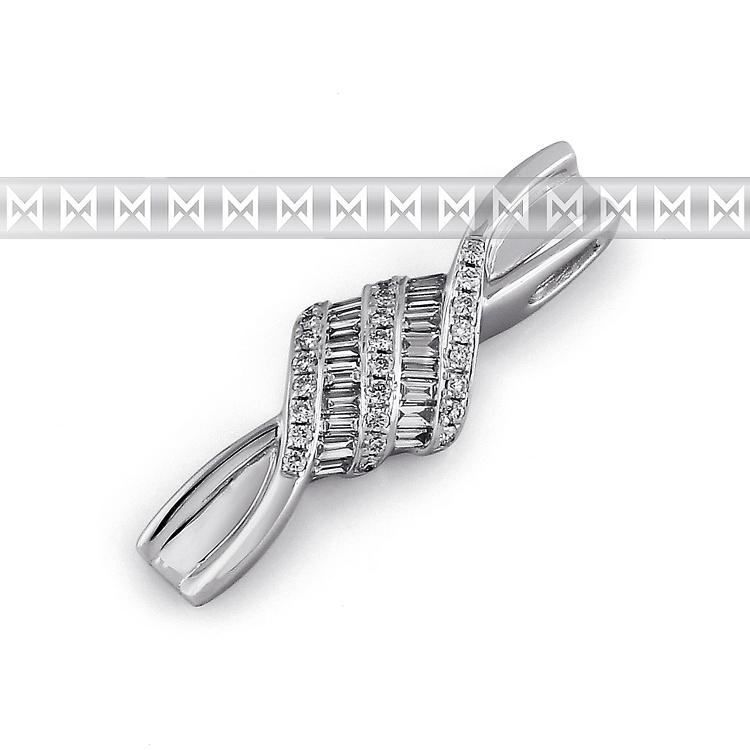 Přívěsek s diamantem, bílé zlato brilianty 3870388-0-0-99