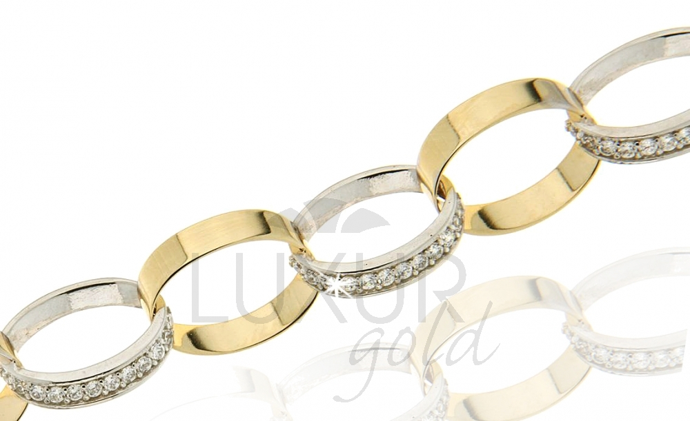 Zlatý náhrdelník se zirkony 1440422-5-45-1