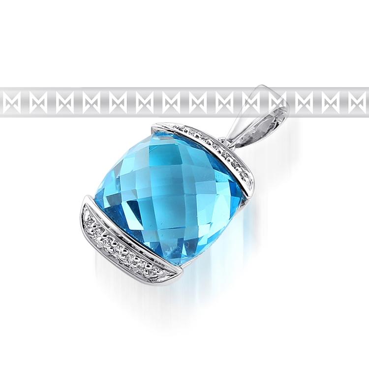 Přívěsek s diamanty a topazem Briline3870179-0-0-93