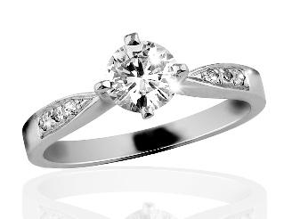 Zlatý prsten s diamanty Briline 06-38