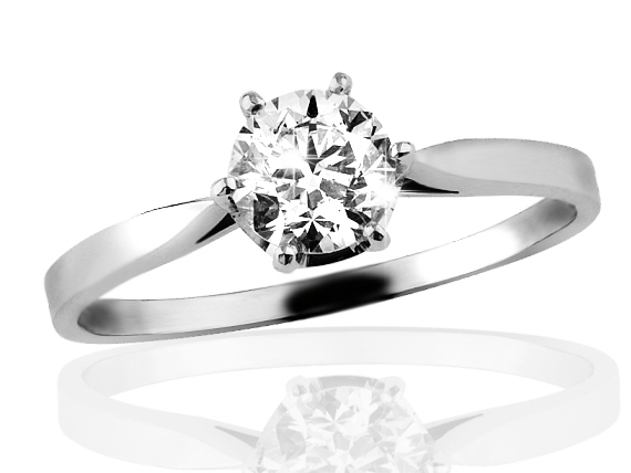 Zlatý prsten s diamantem řada Briline 05-84