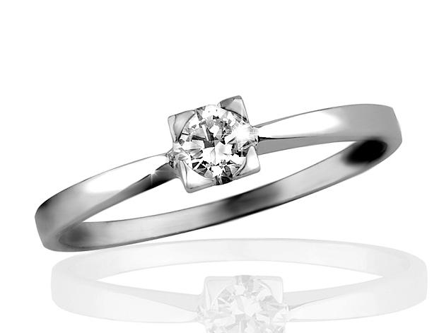 Zlatý prsten s briliantem Briline 09-90