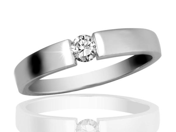 Briliantový prsten z bílého zlata Briline 12-90