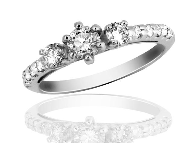Zlatý prsten s diamanty Briline 15-01