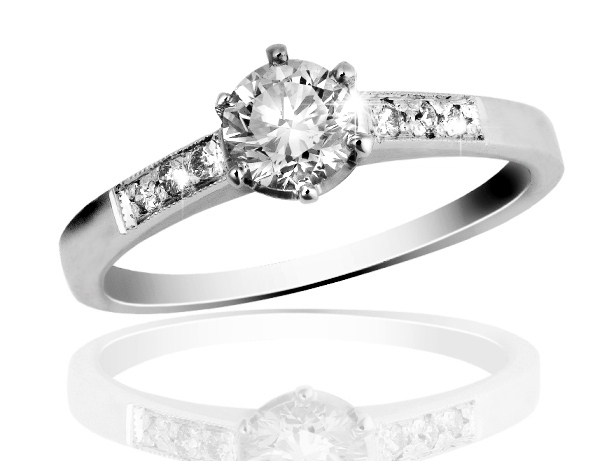 Zlatý prsten s diamanty Briline 15-18