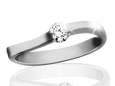 Briliantový prsten z bílého zlata Briline 12-58