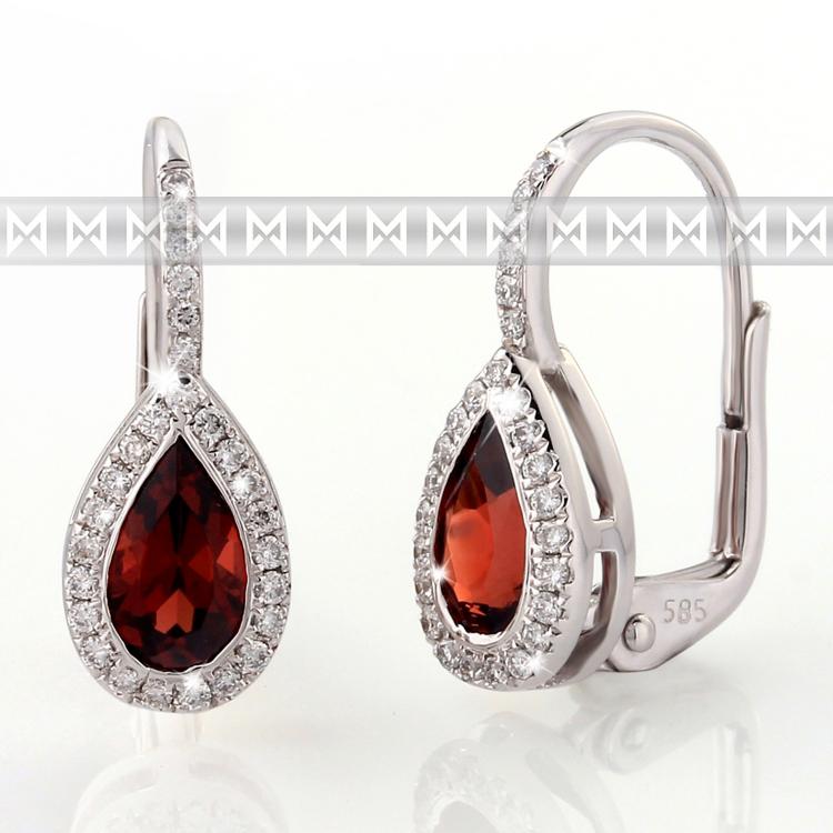 99603bb0f Náušnice s diamanty a granátem Briline 388-0802   Zásnubní a ...