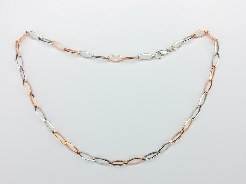 Novinka - luxusní náhrdelník růžové a bílé zlato Briline101