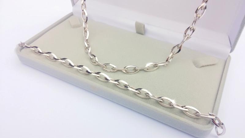 Novinka - luxusní souprava náhrdelník a náramek - bílé zlato Briline103s