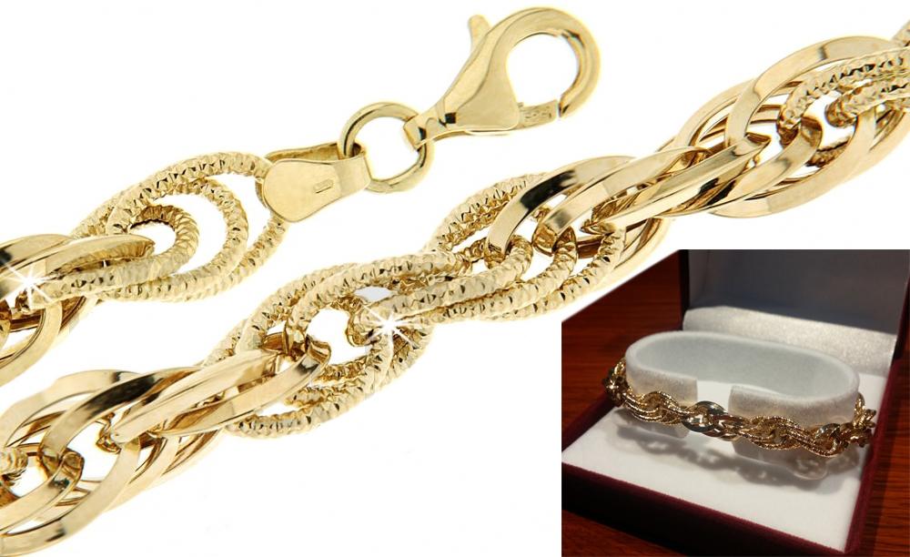 5263f0426 Zlatý náramek dámský Briline 1440450 | Zásnubní a diamantové šperky ...
