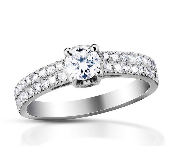 Zlatý prsten s diamanty Briline 26-65