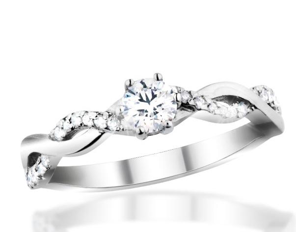 Zlatý prsten s diamanty Briline 29-15