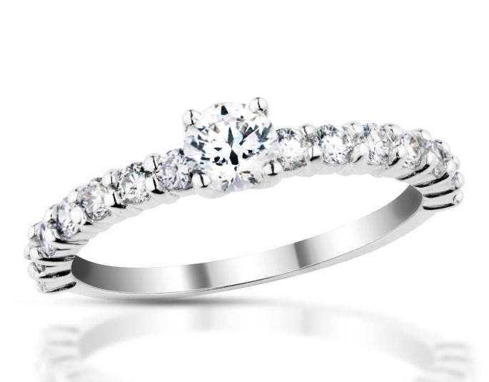 Zlatý prsten s diamanty Briline 20-31