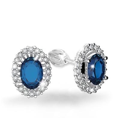 8cf487779 Náušnice s diamanty a safírem Briline 388-0120s-safir   Zásnubní a ...